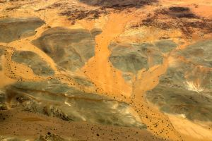 The bizarre mineral colours of the landscape near Damaraland