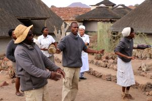 Serenaded by the staff team at Damaraland Desert Camp