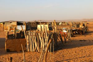 The desperately poverty-stricken village on the edge of the Damaraland park