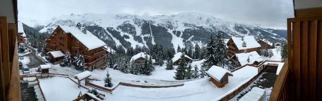 Spectacular view from Hotel Allodis in Meribel
