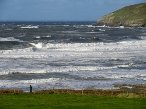 The Atlantic waves rolling in on the North Devon coast