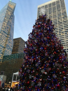 The christmas tree in Bryant Park New York outside the Heidrick offices