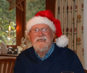 My dad as a 91 year old Father Christmas!