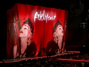 Madonna in provocative mode at the O2