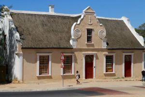An old traditional building in downtown Malmesbury