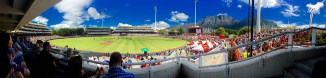 The amazing spectacle of the Newlands Cricket ground under Table Mountain, Cape Town