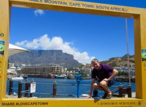 Becoming part of the view in Cape Town