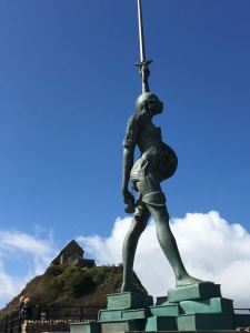 Verity on Ilfracombe Harbour
