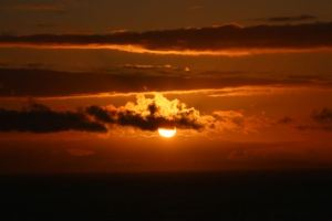 Another great sunset from our house in North Devon