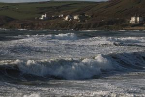 Croyde Bay in full swell
