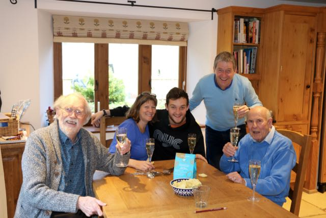 Easter gathering of the Fosters at Winterfold with Alex and the Dads