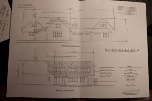 The draft designs for the extension of Peaslake Free School used in the consultation