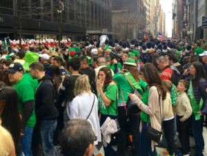 The green tee-shirt brigade thronging the streets of New York on St Patrick's Day