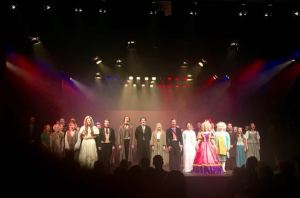 The triumphant curtain-call for the Cranleigh School production of Les Miserables