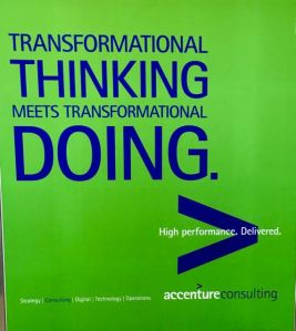 One of the latest ads for Accenture Consulting in Washington airport - still growing!