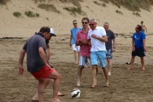 Footie gets serious as the tide comes in