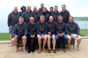 The Footie Dads enjoying their weekend away in Croyde!