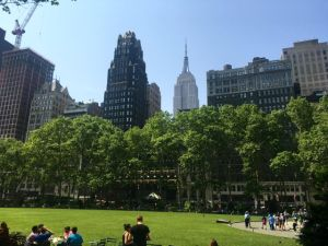 Summer comes to Bryant Park New York