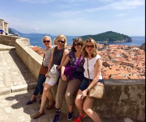 Sandy and friends in lovely Dubrovnik