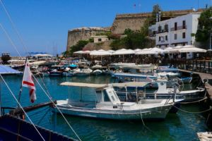 The pretty harbour of Kyrenia - where we ate most nights