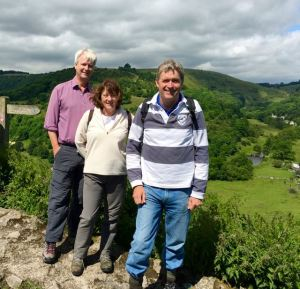 Walking with Margaret and Mike at Mensal Head, Derbyshire