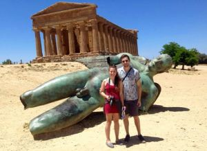Alex and Katie find a big friend in Agrigento, Sicily
