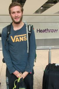 Matt returns to Heathrow after 4 months away in South America