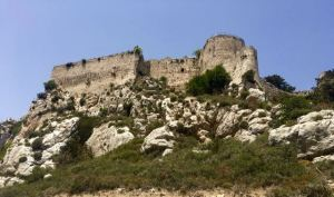 The crusader castle of Kantara in Cyprus