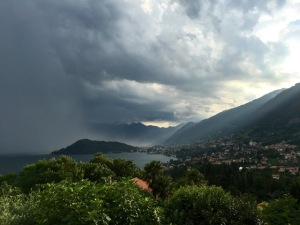Storm clouds over Lake Como