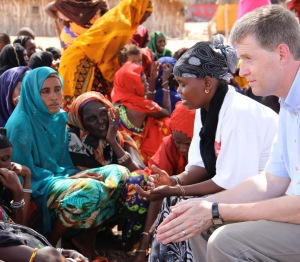 Meeting women suffering from the famine in North Kenya in 2012