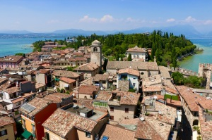 The rooftops of Sermione on Lake Garda