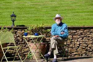 Dad enjoying the sunshine at Winterfold