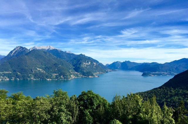 Lake Como viewed from a mountain walk above San Siro